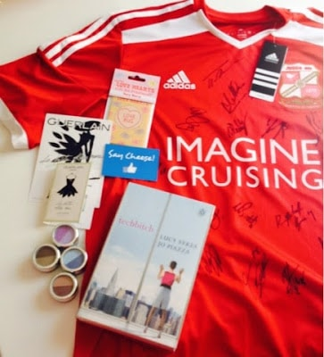 Eyeshadow, perfume and a football shirt