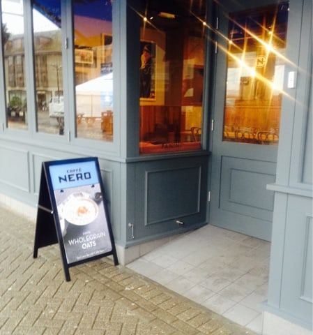 A visit to our new Caffe Nero on Lemon Quay
