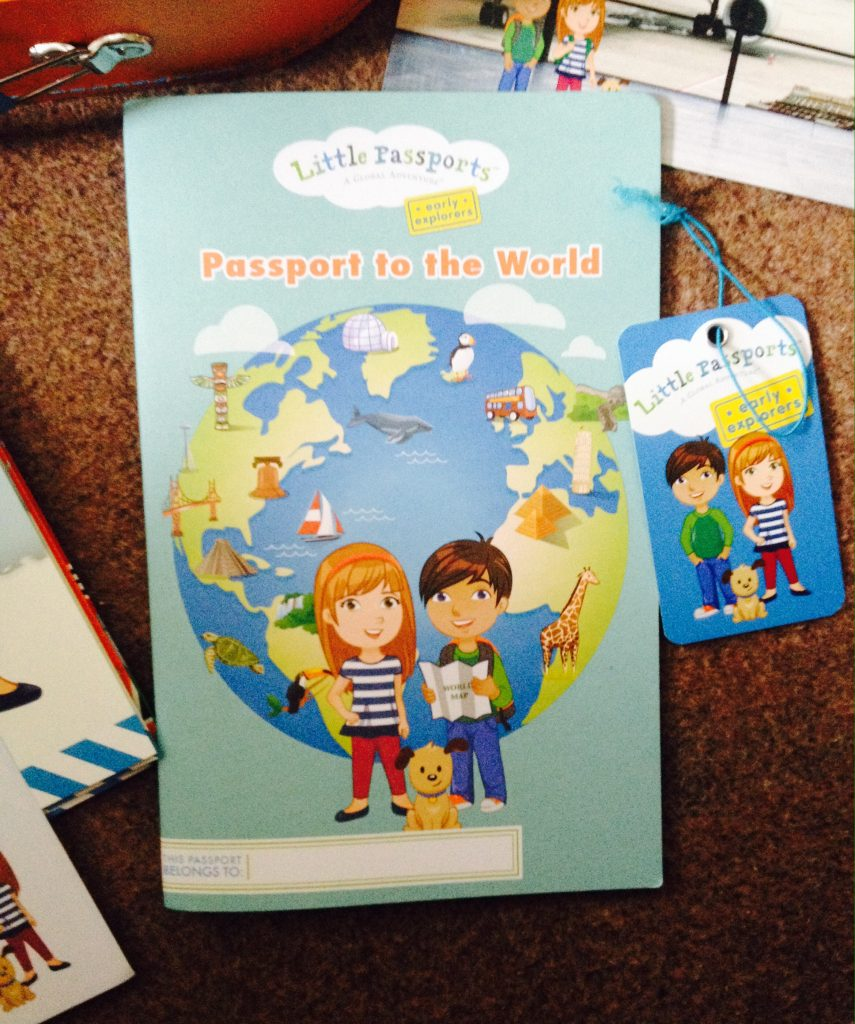 Little Passports and suitcase tag