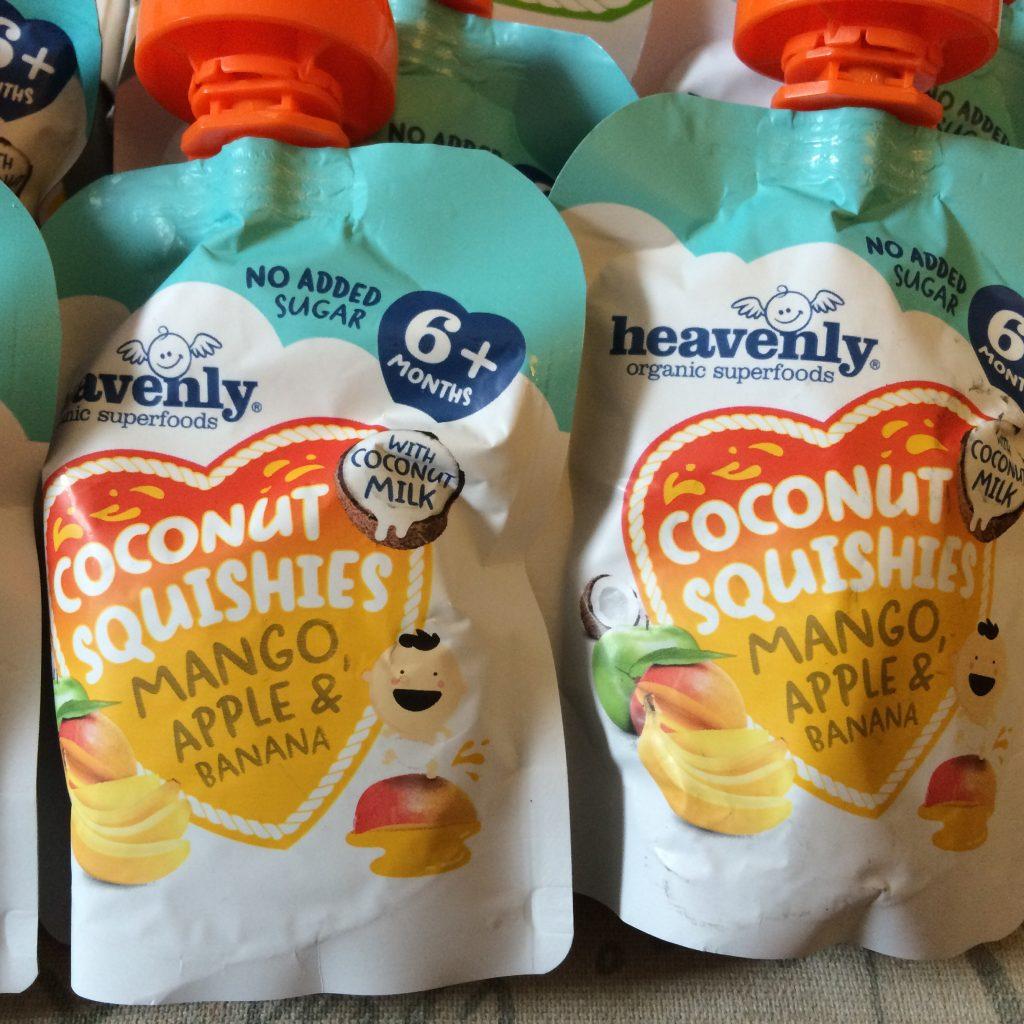 Coconut Squishies - Mango, apple and banana - Rachel Bustin