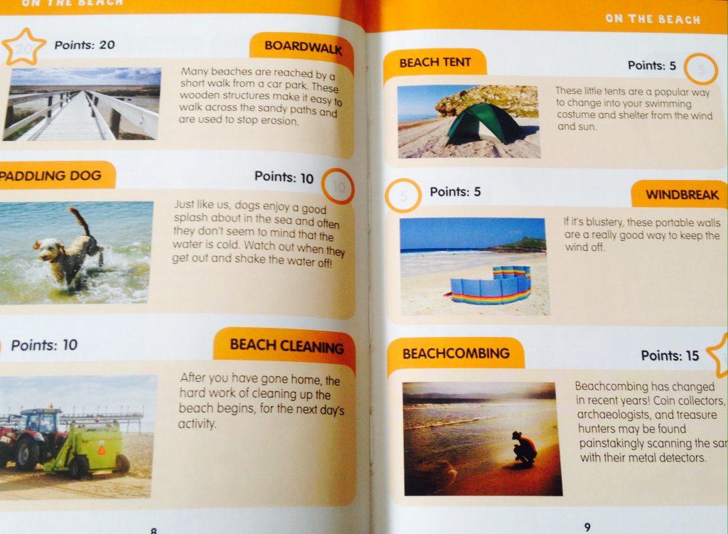i-spy book- on the beach