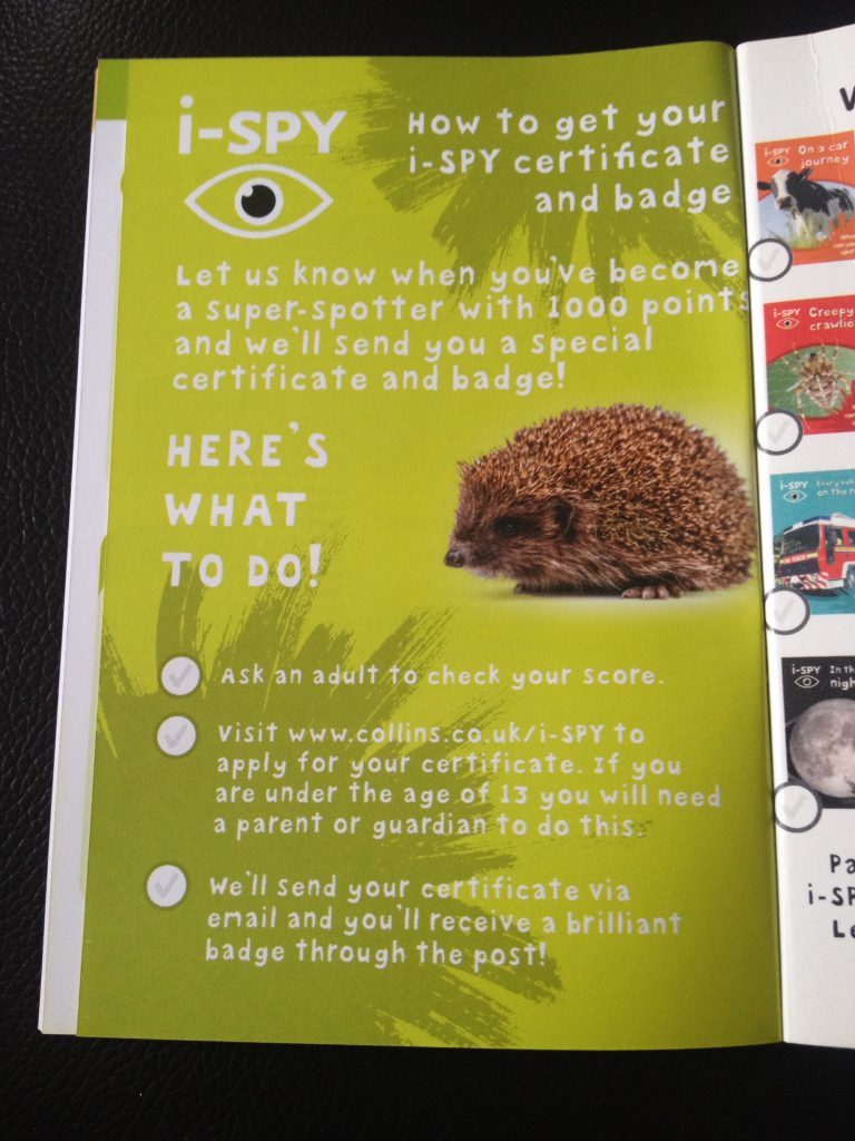 i-spy -how to get your certificate and badge