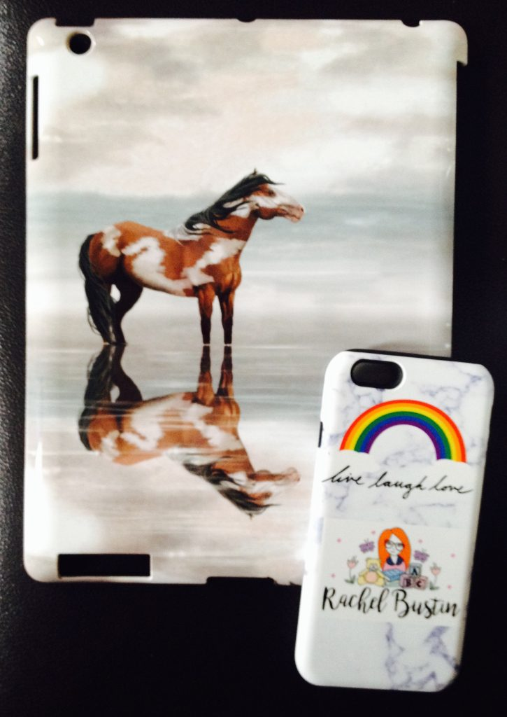 A horse ipad case and an iphone 6s hard case