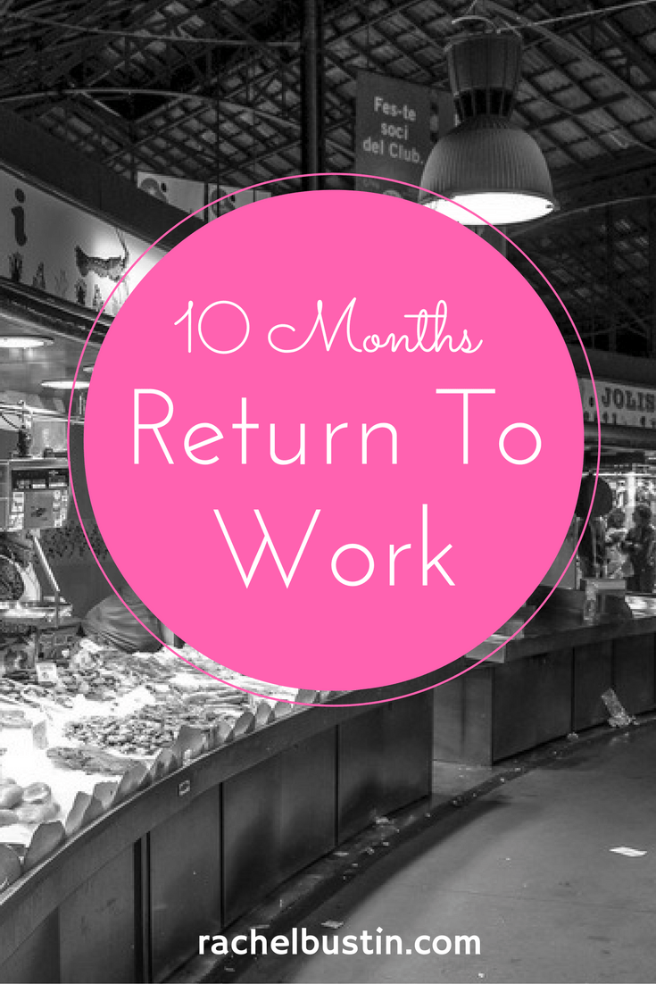 10 Months Have Passed – My Return To Work