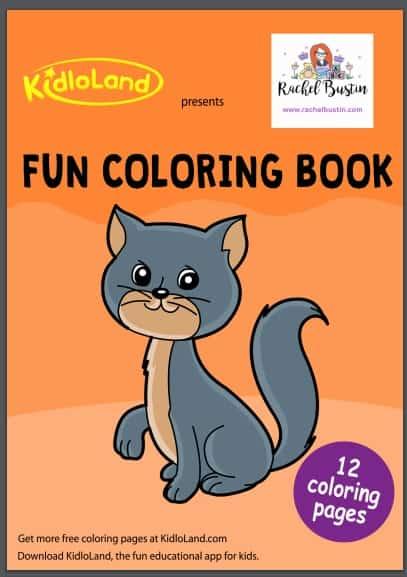 Printable colouring book - cover