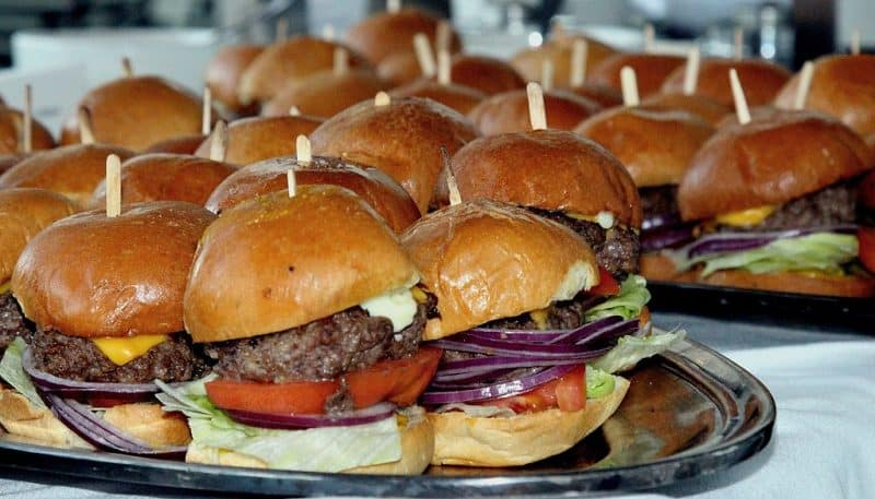 a_party_tray_of_sliders_at_a_restaurant