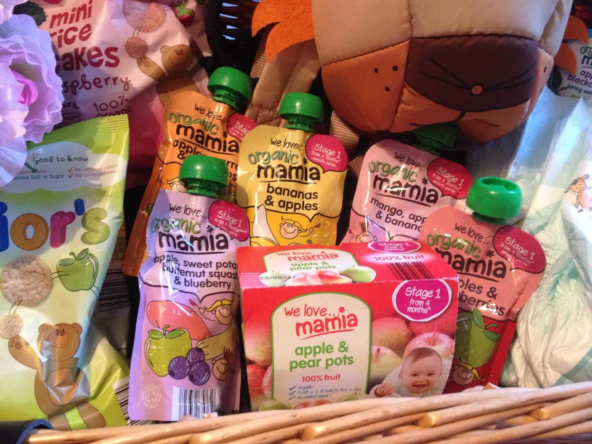 Mamia 100% organic baby food range