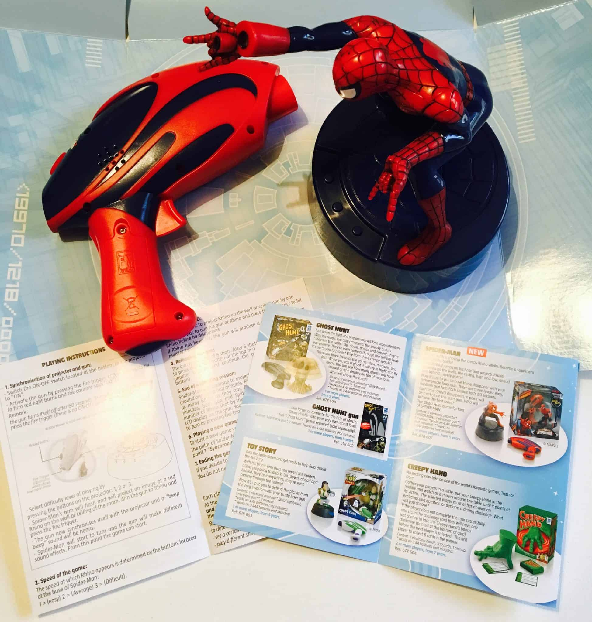 Spiderman laser game and instructions