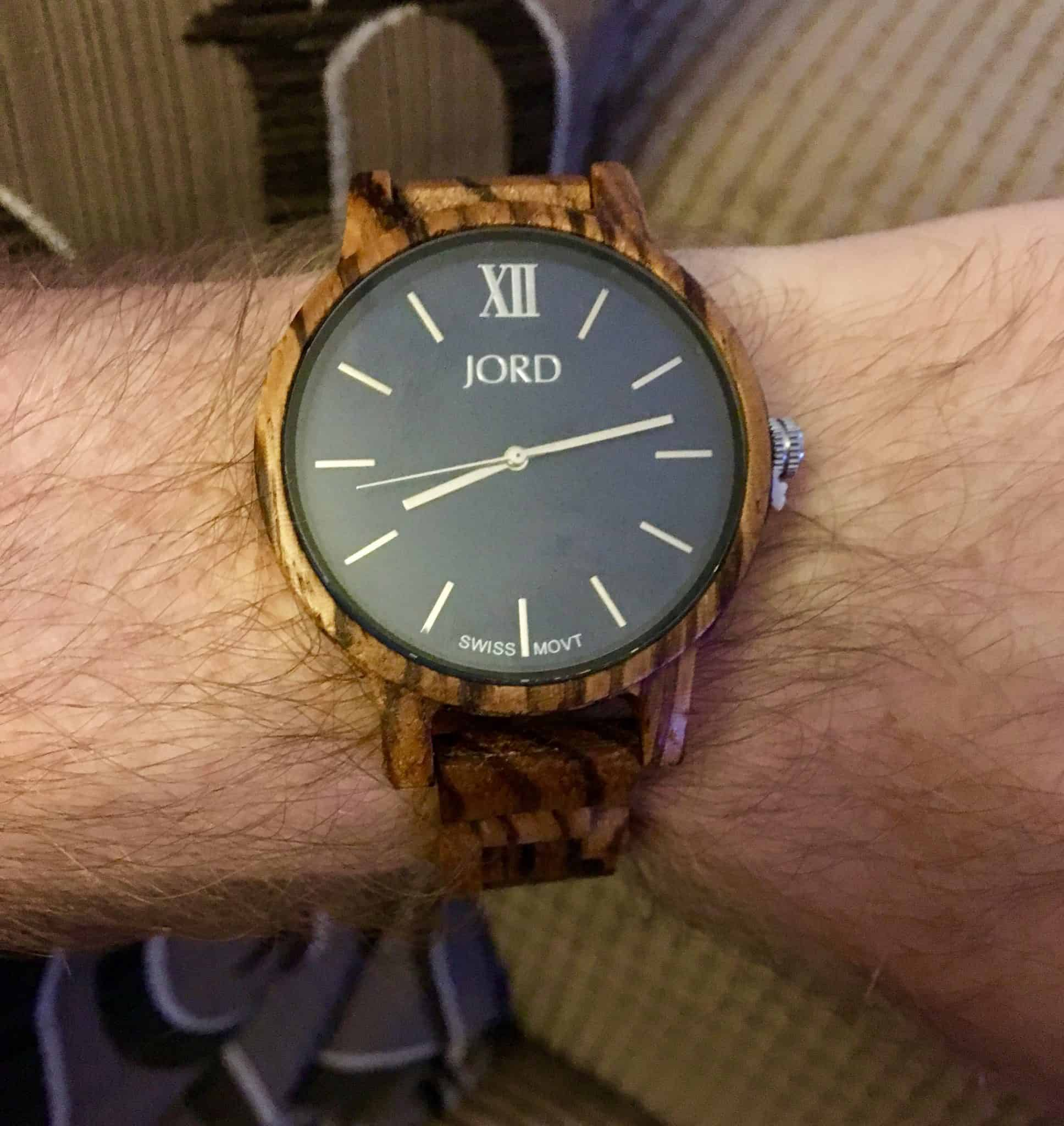 The Frankie JORD Watch on my husbands wrist