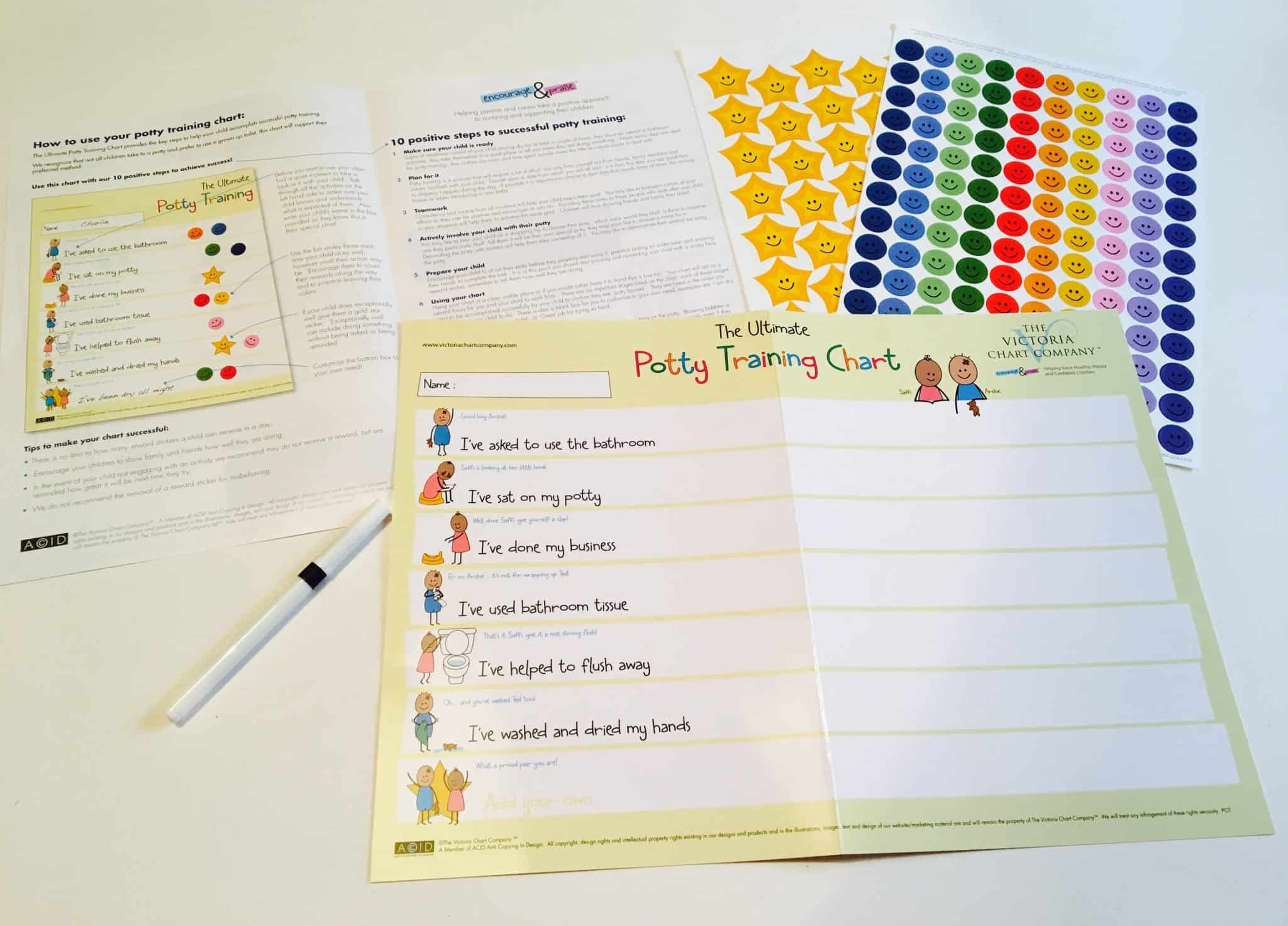 Potty Training Chart with Stickers