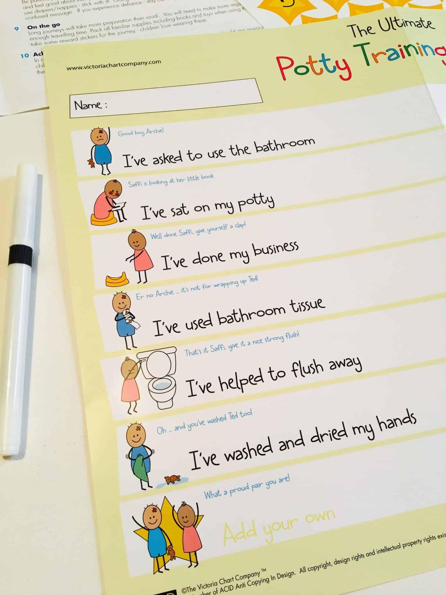 potty training chart review  u0026 giveaway