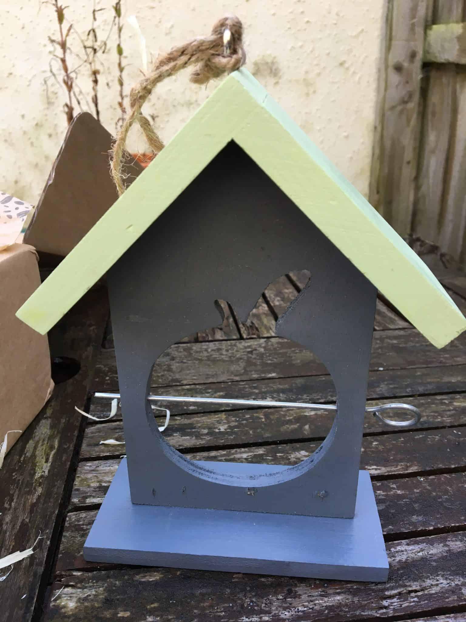 wooden fruit feeder for birds
