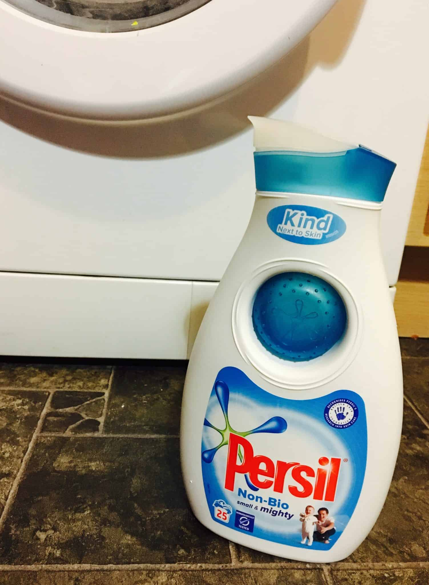 Persil non-bio by the washing machine