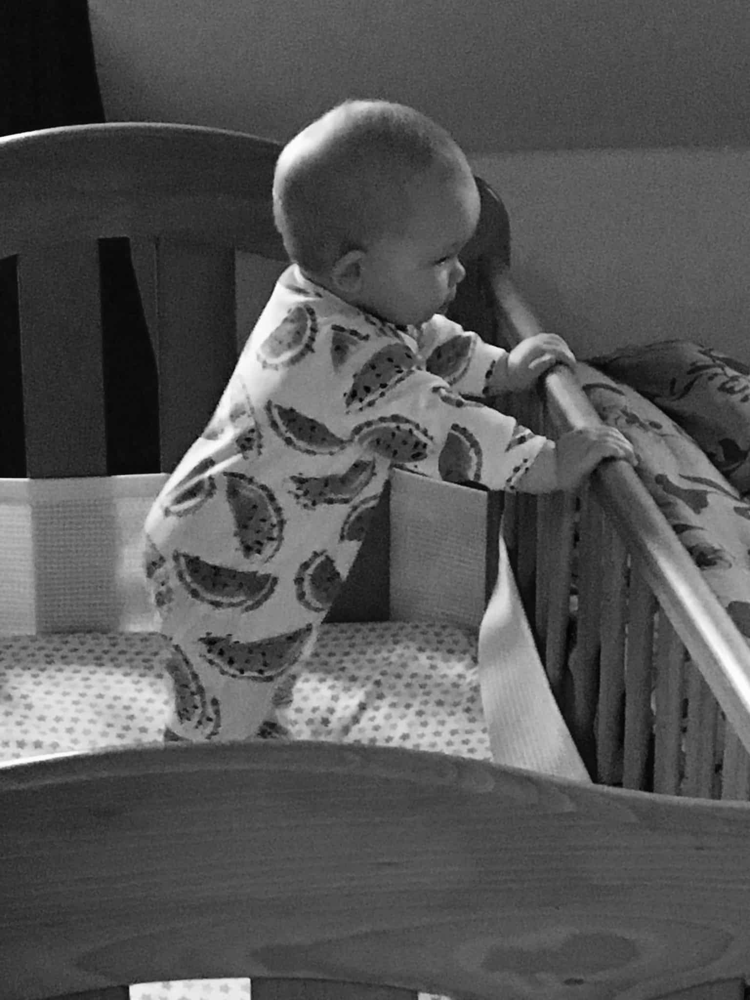 bouncing in her cot - Rachel Bustin