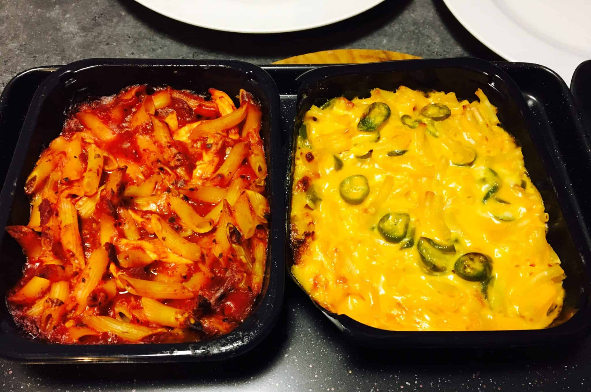 The Shack Mac n Cheese and Penne Pasta