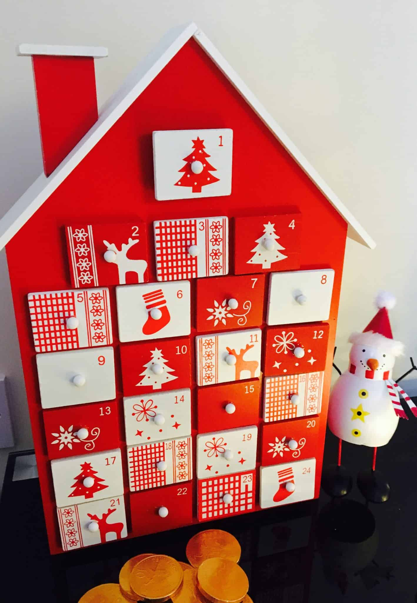 Red Wooden advent calender