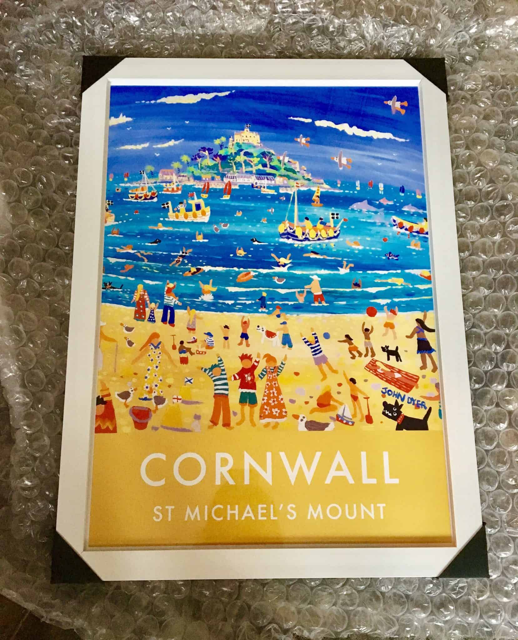 Cornwall art poster - St Michael's Mount