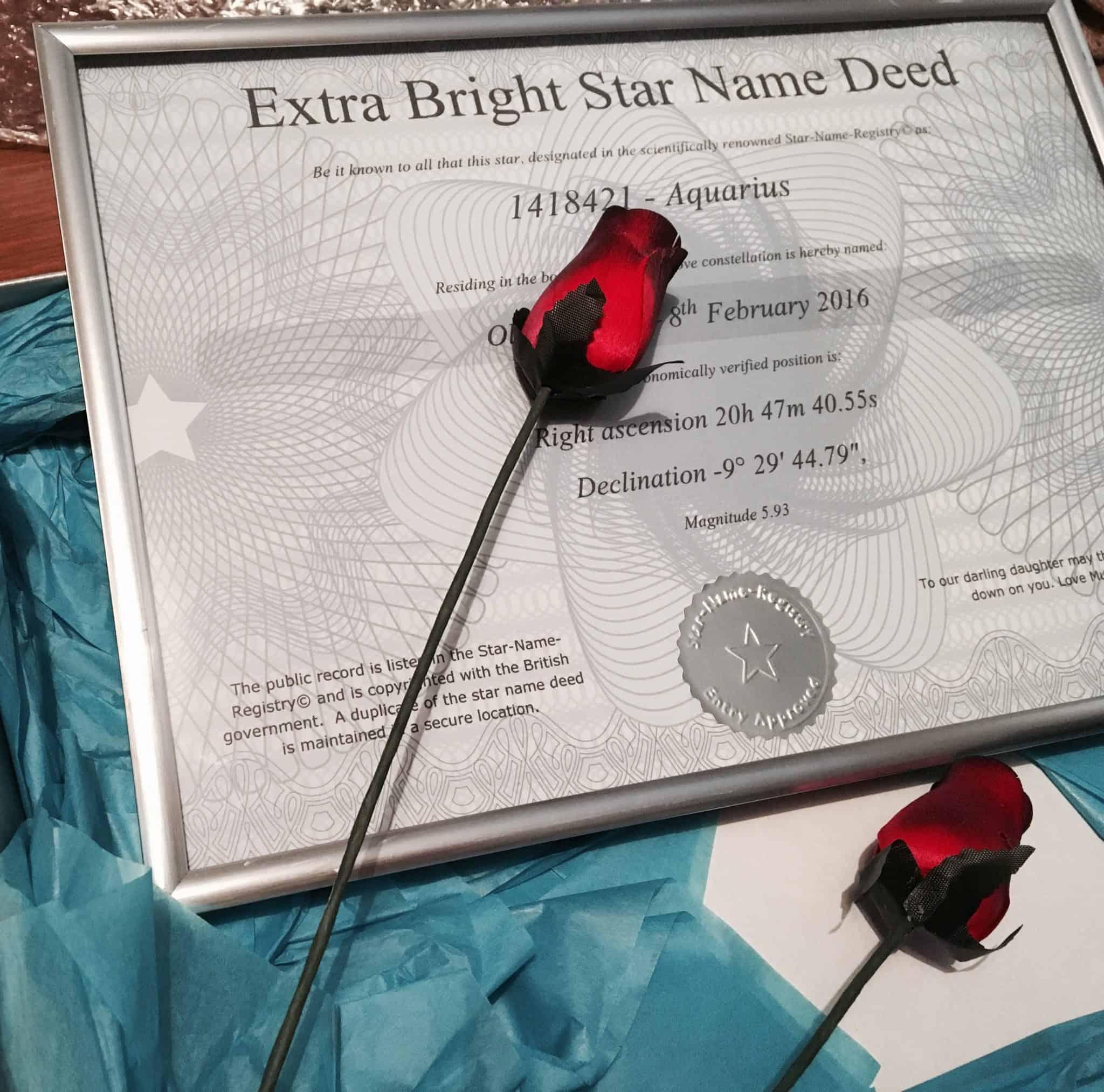 Star Name Registry Deed