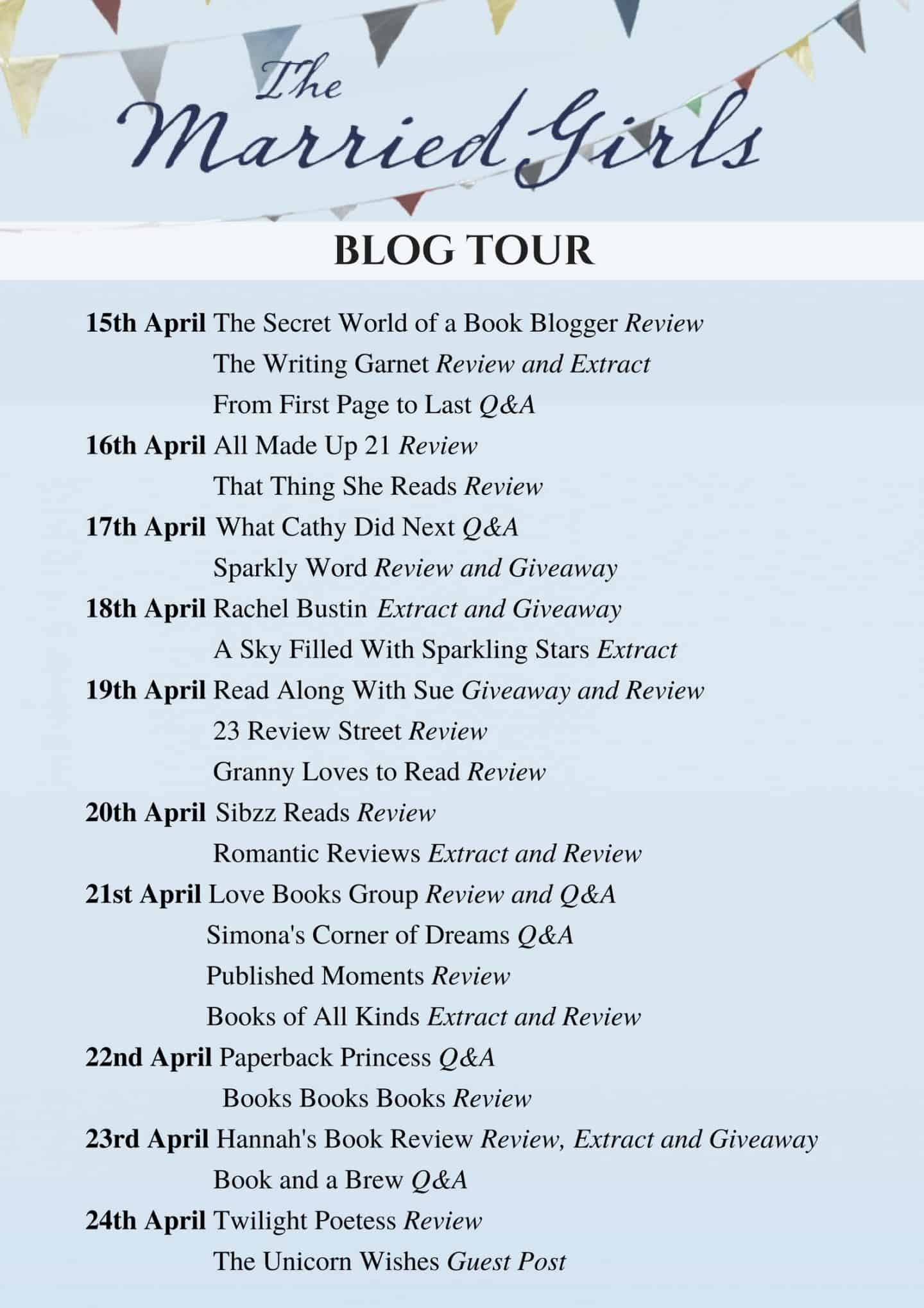 The married girls blog tour banner