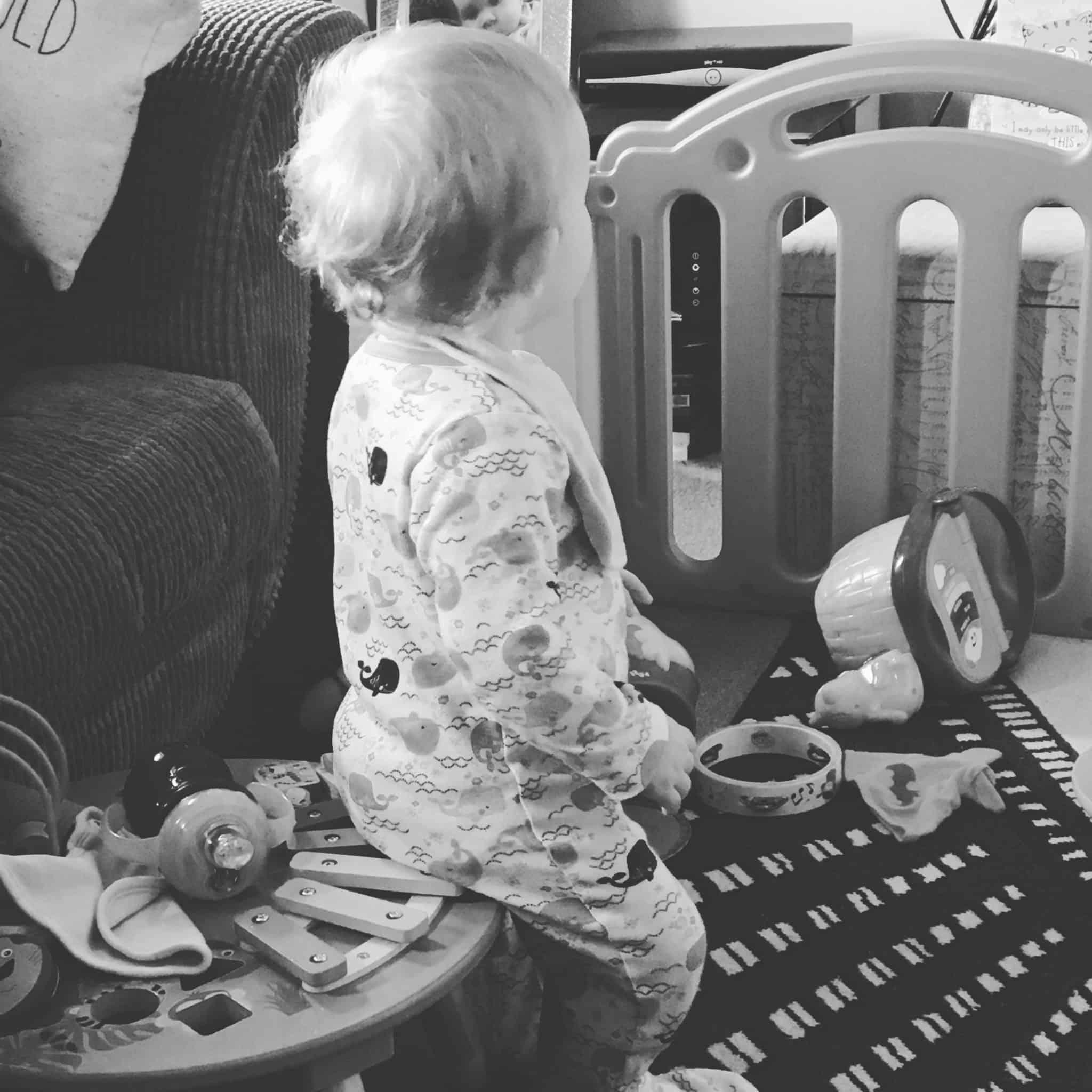Baby Girl watching Fireman Sam