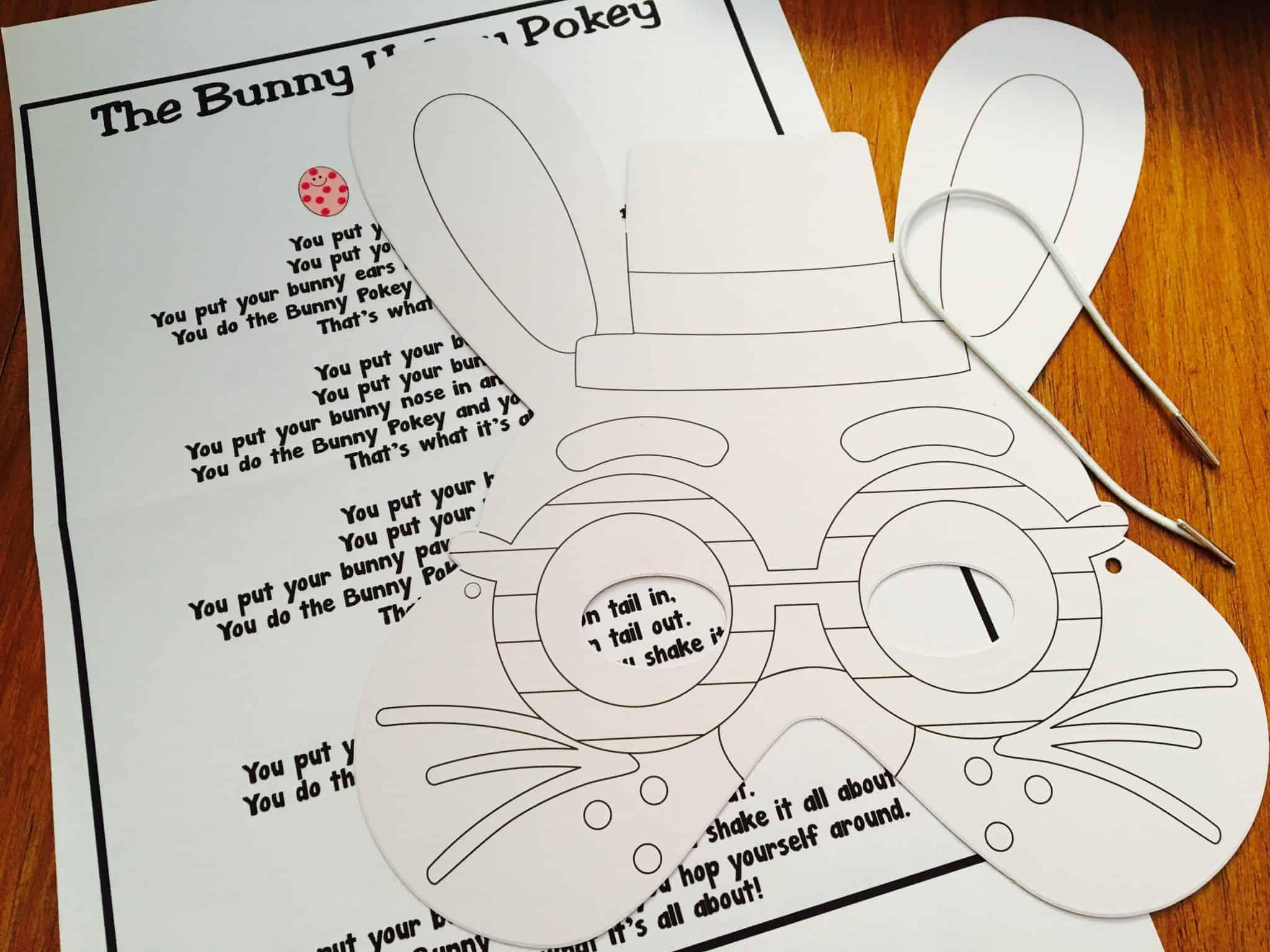 The Bunny Hokey Pokey and Colouring Rabbit Mask