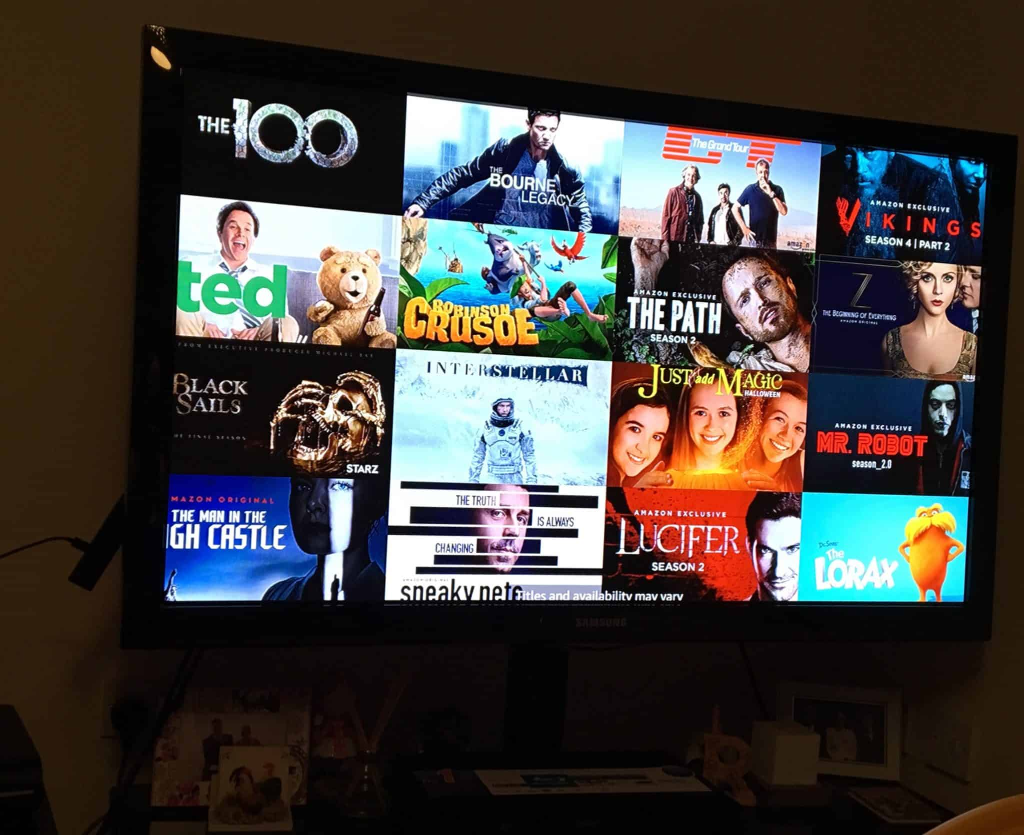 Amazon Fire TV Stick programme options