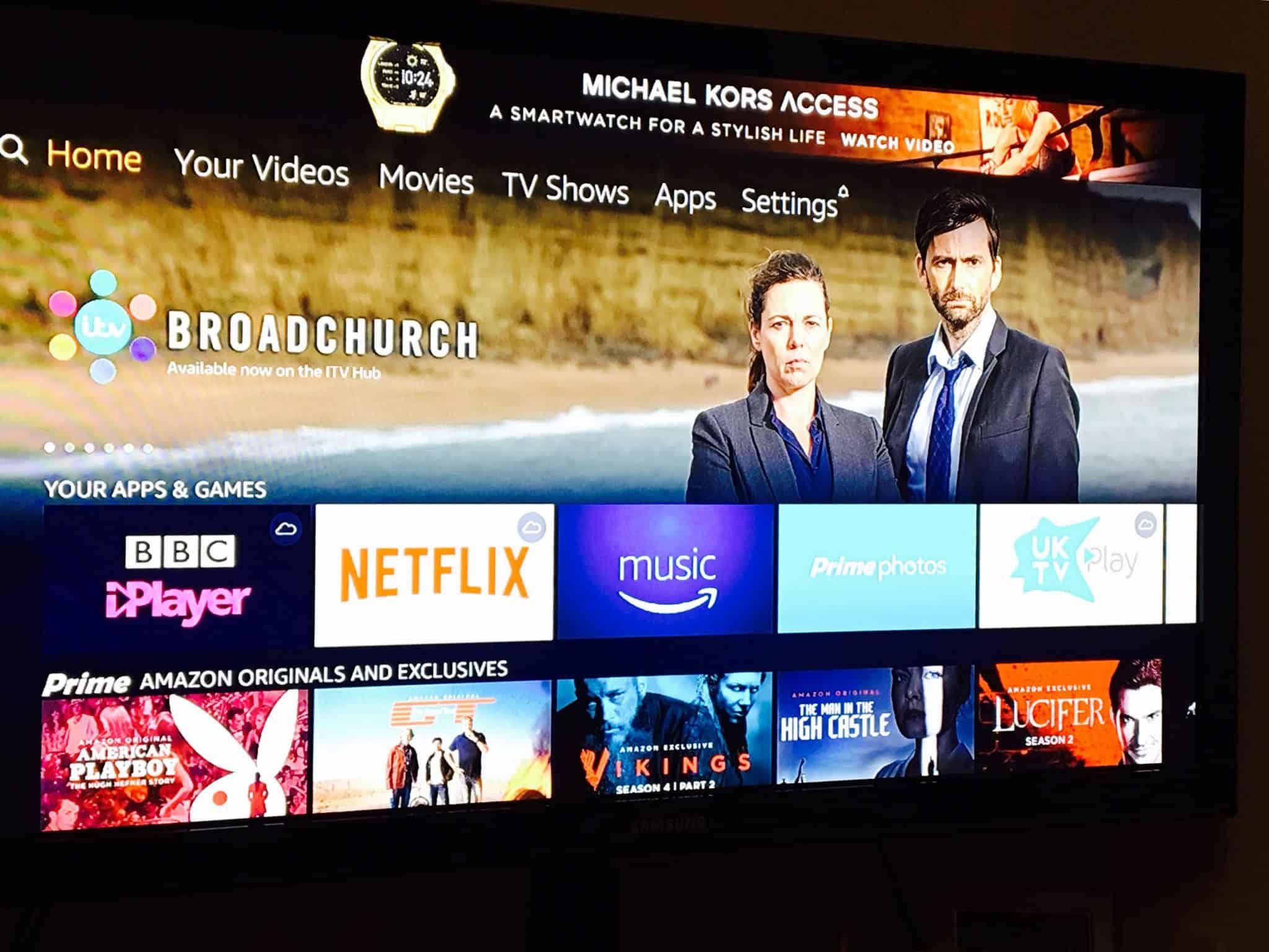 Amazon Fire TV Stick Menu options
