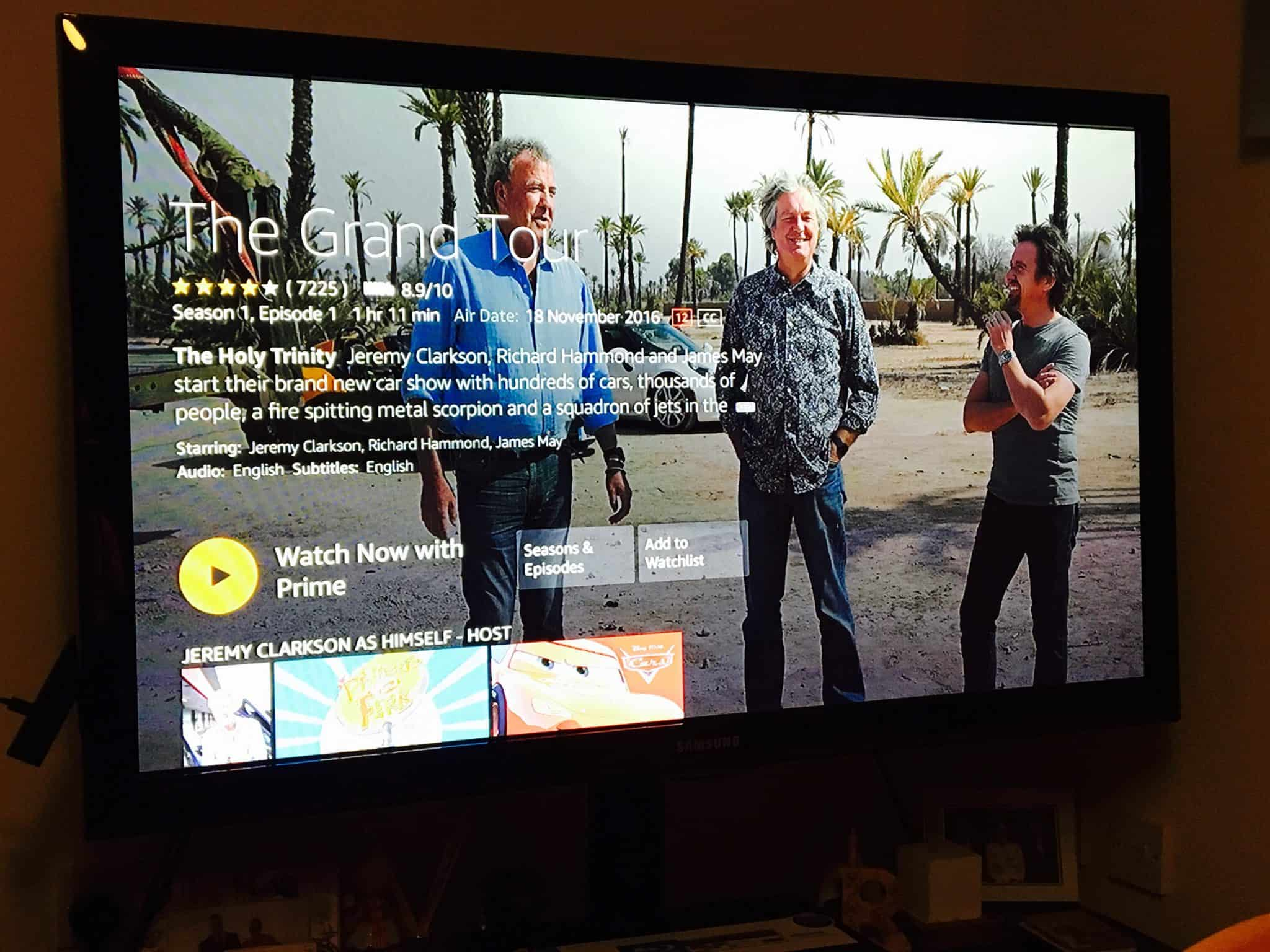 The Grand Tour with Amazon Prime