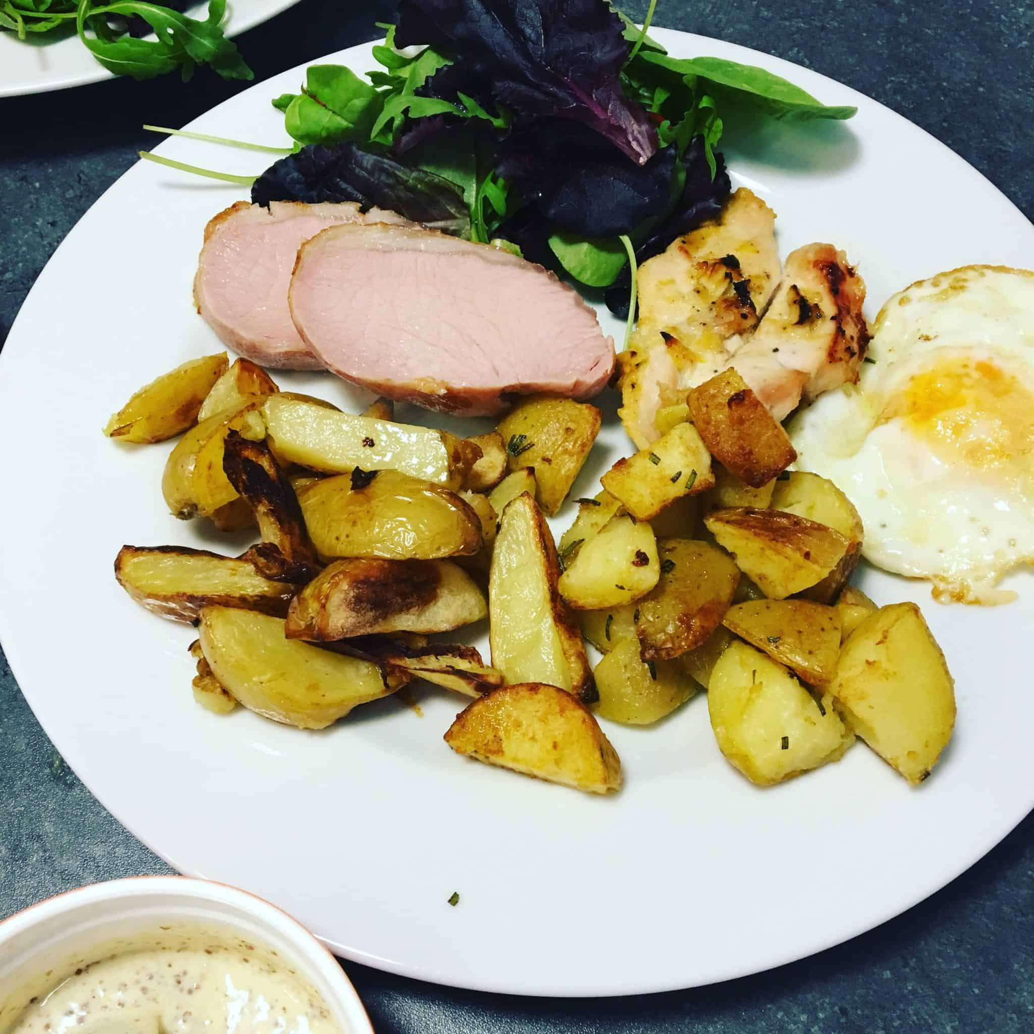 The Finished Dish with Gousto - ham egg and chips