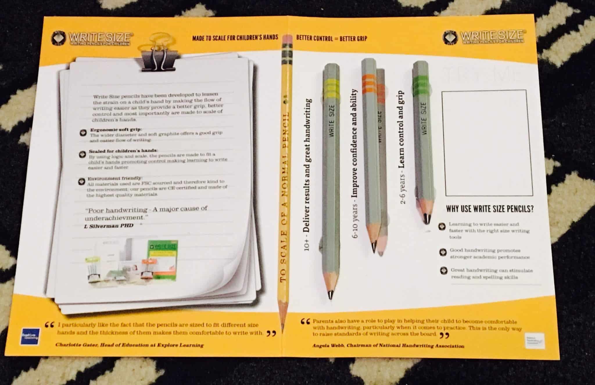 Introducing Write Size Pencils: Made to scale for children's hands