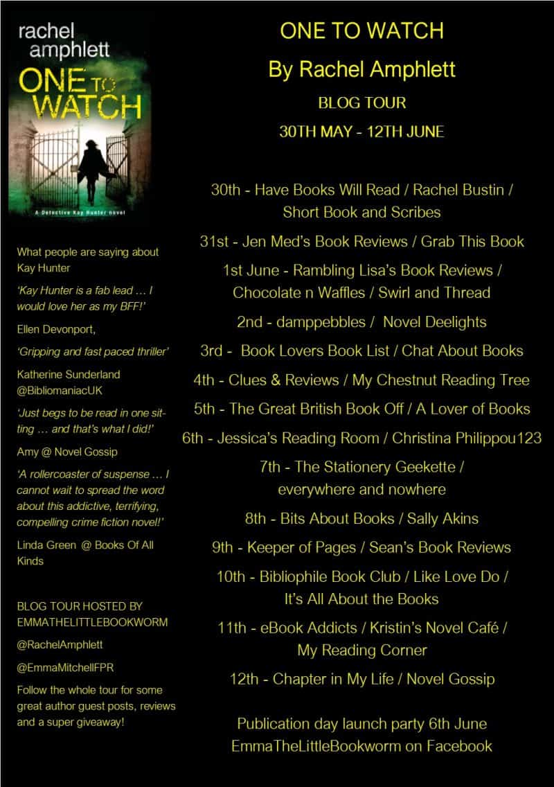 One to Watch Blog Tour