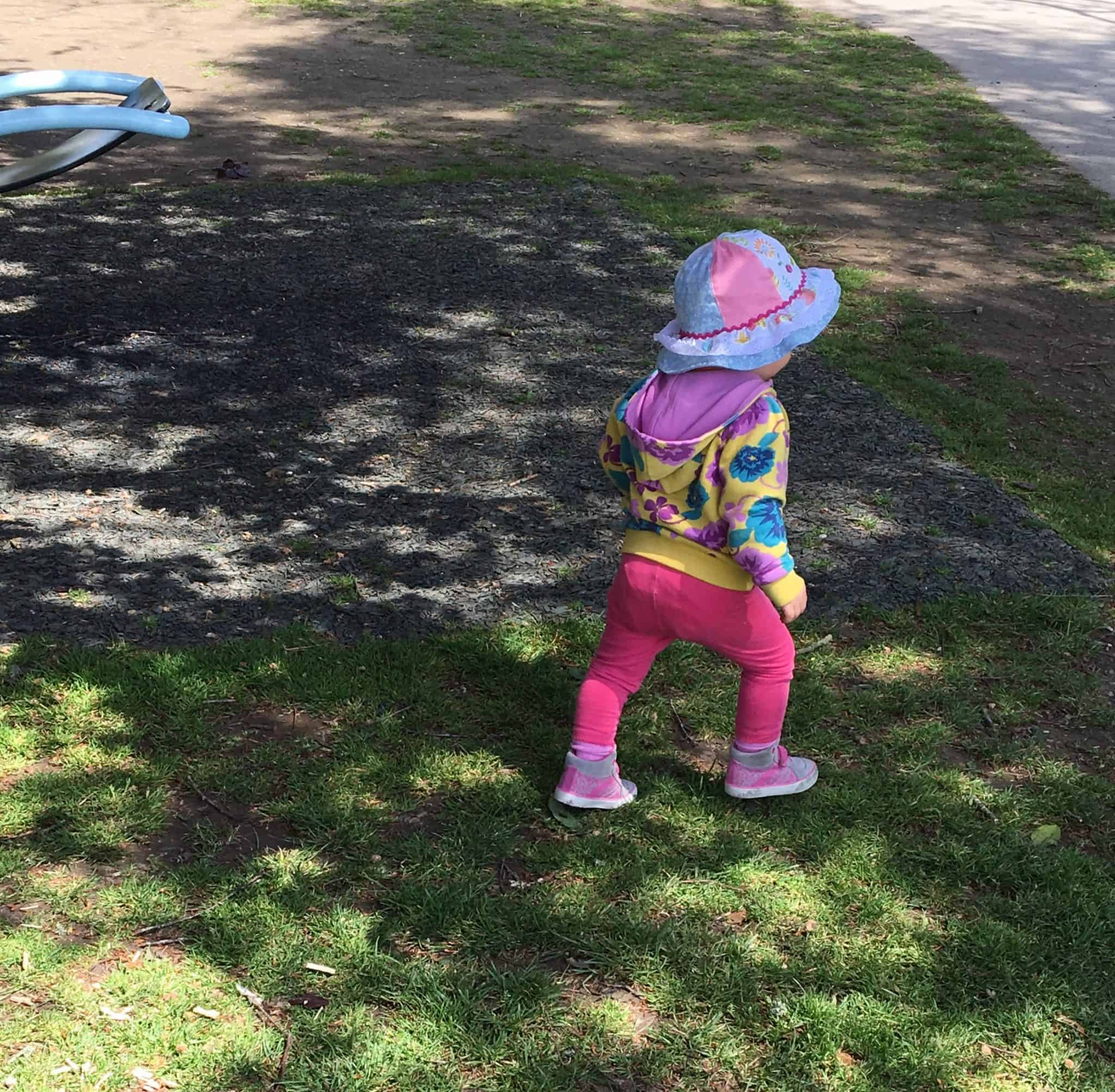 Baby girl at the park
