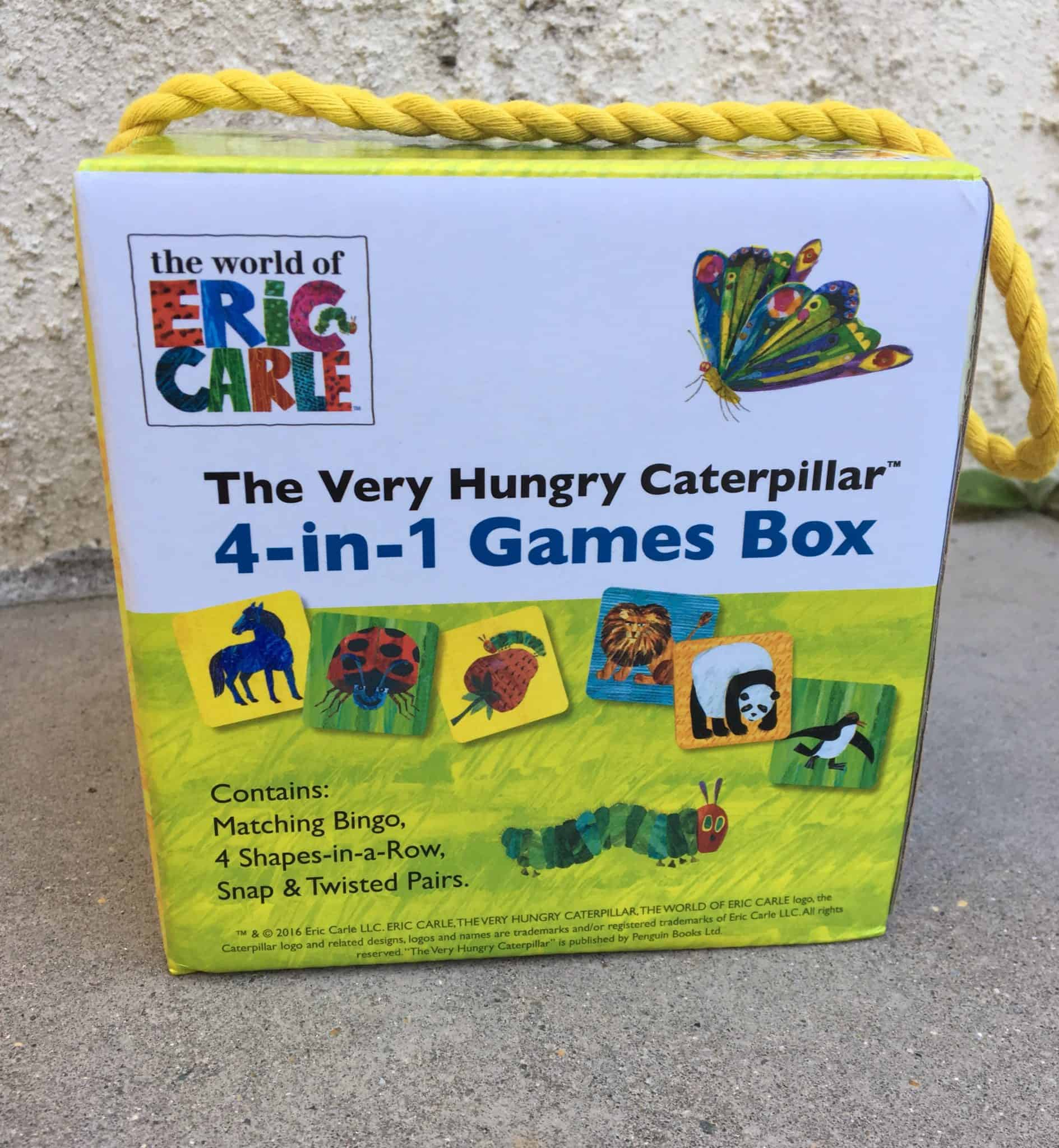 The Very Hungry Caterpillar 4-in-1 Games Box Review and Giveaway
