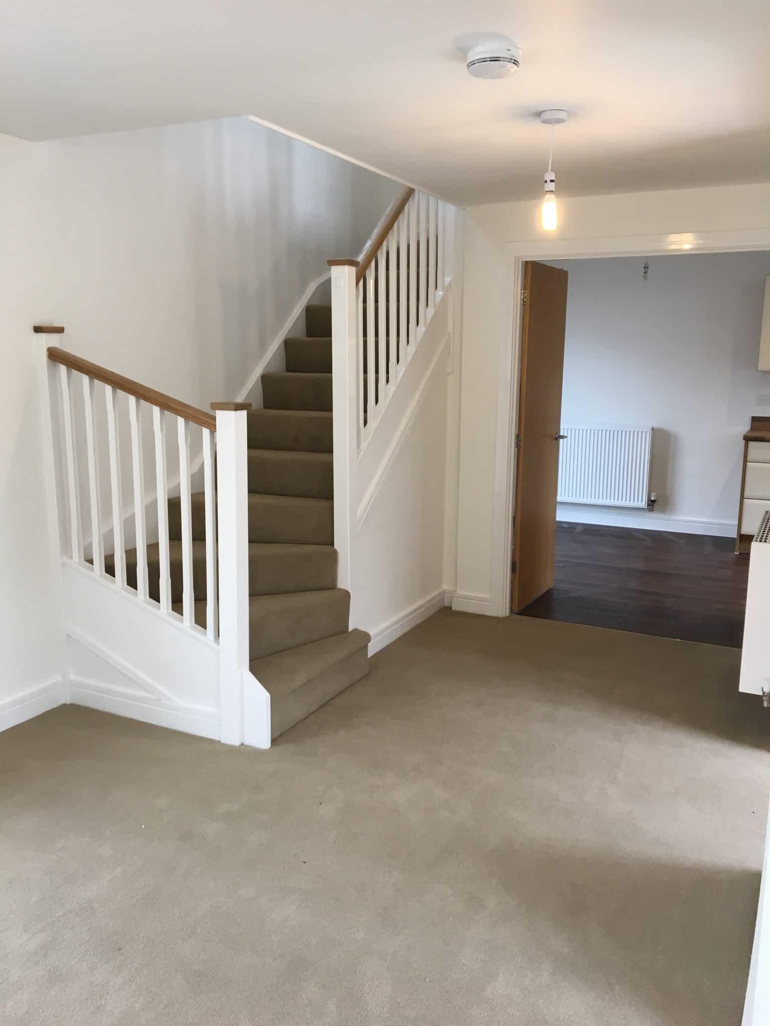 blank hallway ready for decorating
