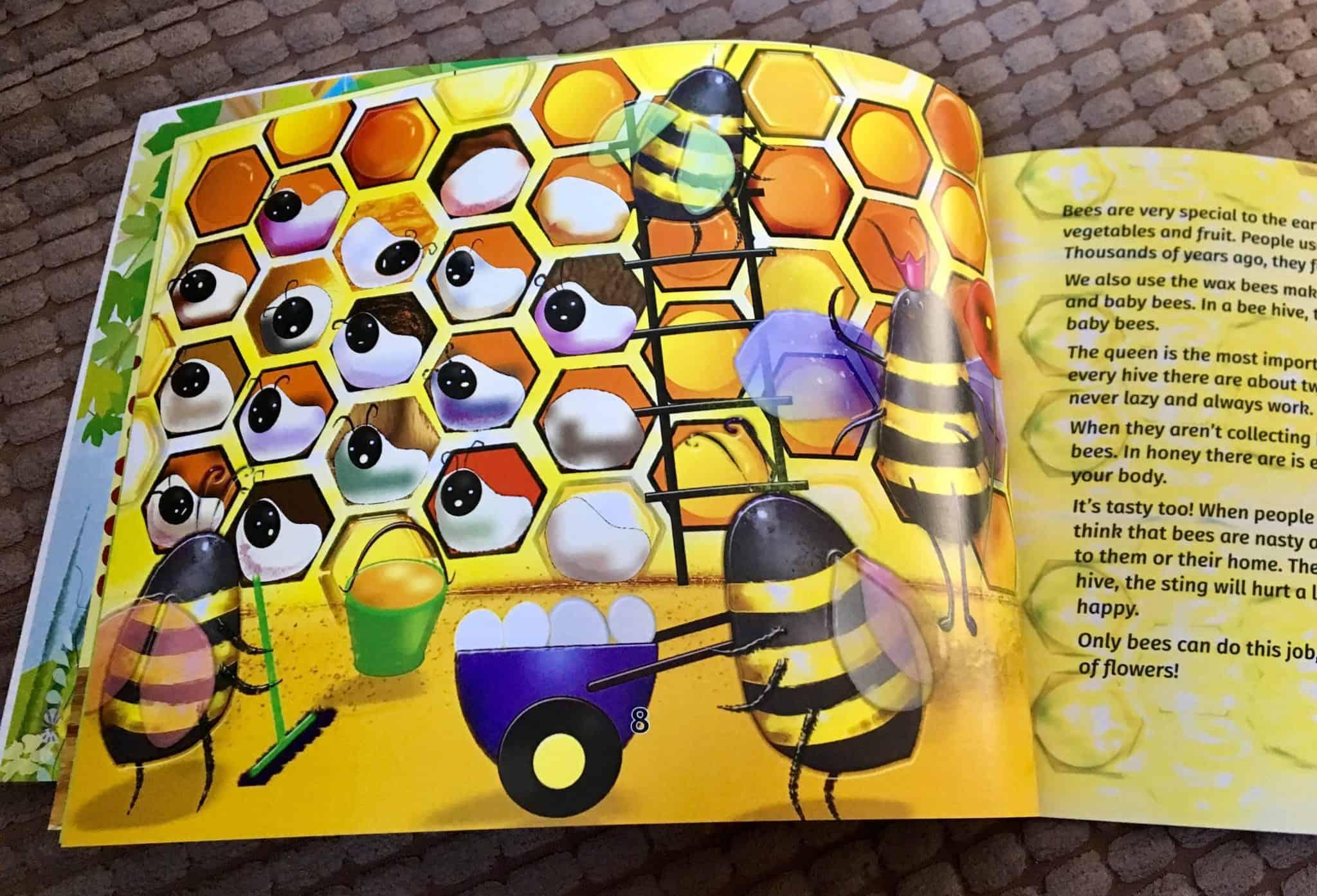 Wonderful illustrations in Curious Beekeeper Nina