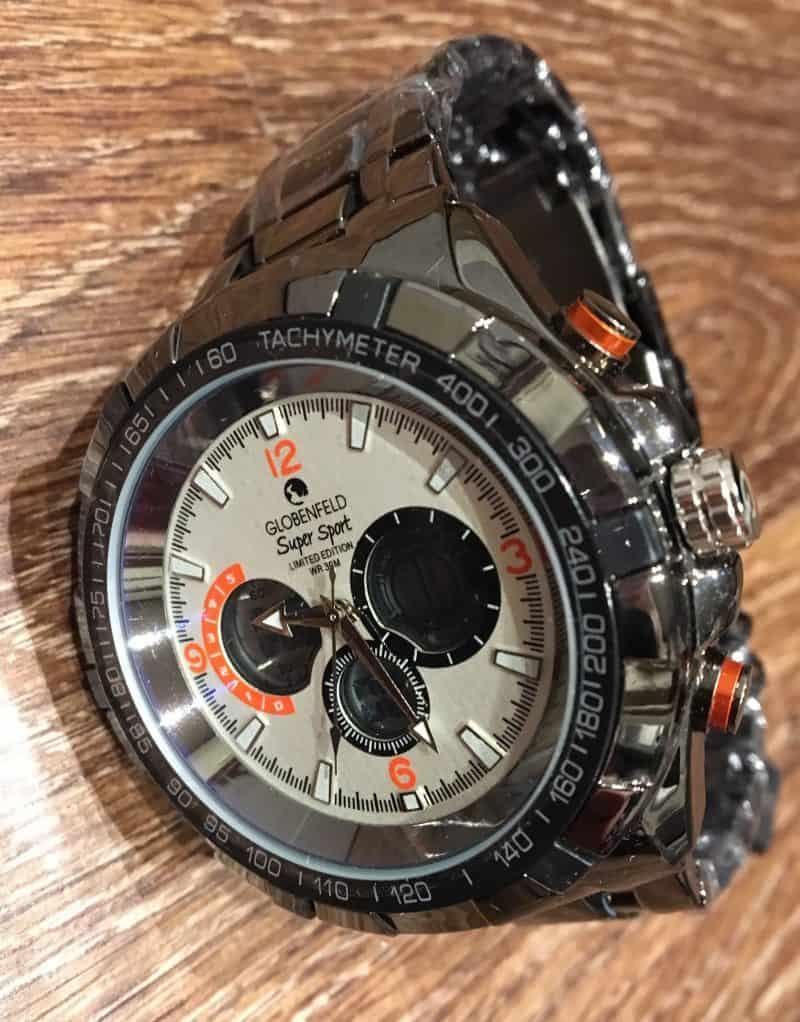 Globenfeld Super Sport — Mens designer watches - White sport watch - Limited edition - Scratch & water resistant 30m