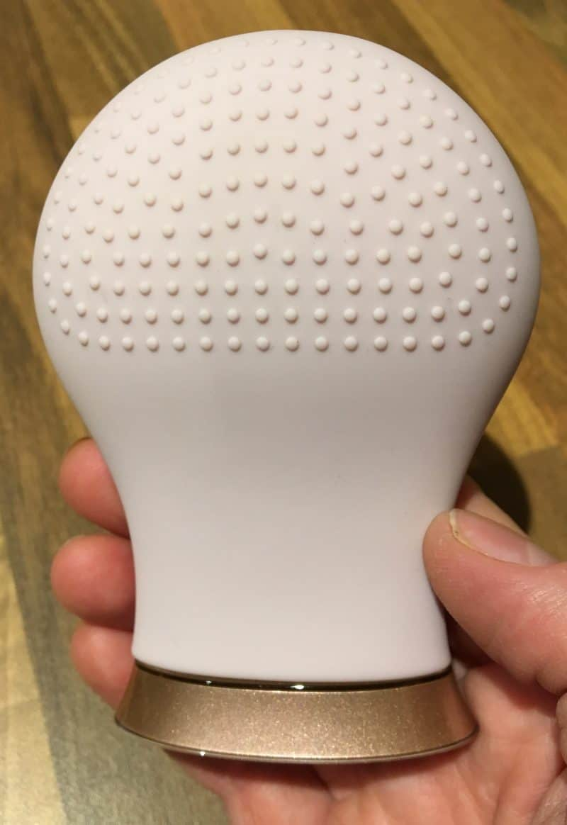 Back of the Sensse facial cleansing brush