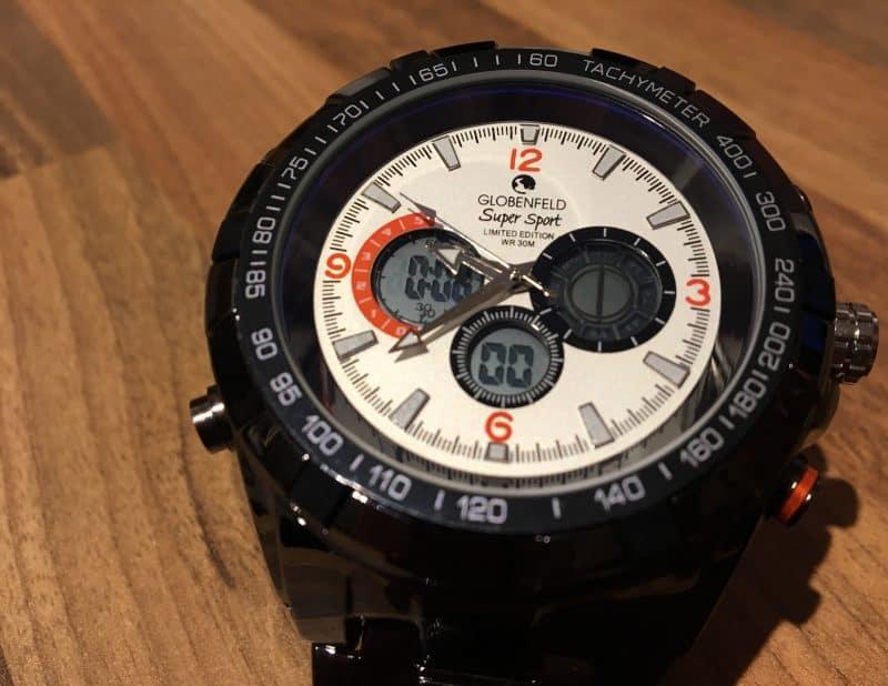 Globenfeld Super Sport — Mens designer watches - White sport watch - Limited edition - Scratch & water resistant 30m Globenfeld Super Sport Limited Edition Watch