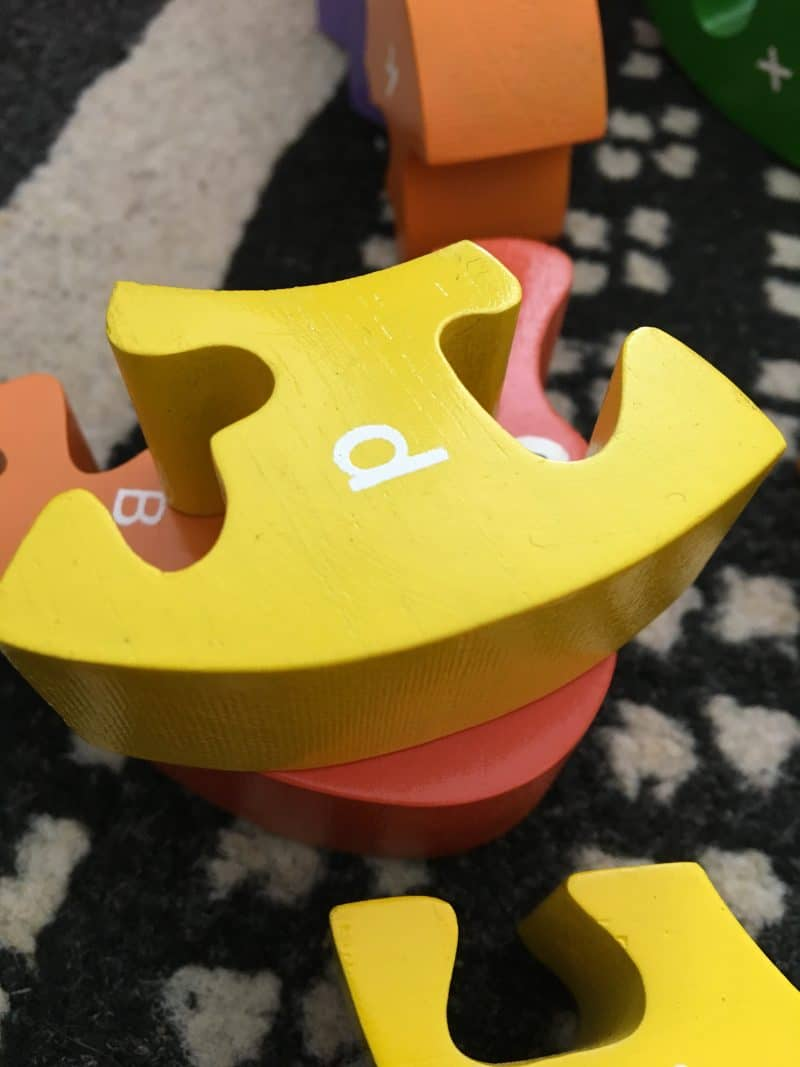 wooden toys - alphabet snake