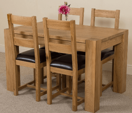 Oak Furniture King - Dining table and chairs