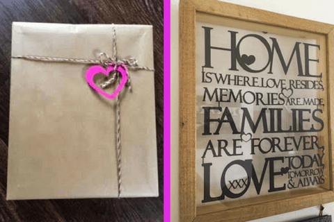 Papercut bespoke personalised frame