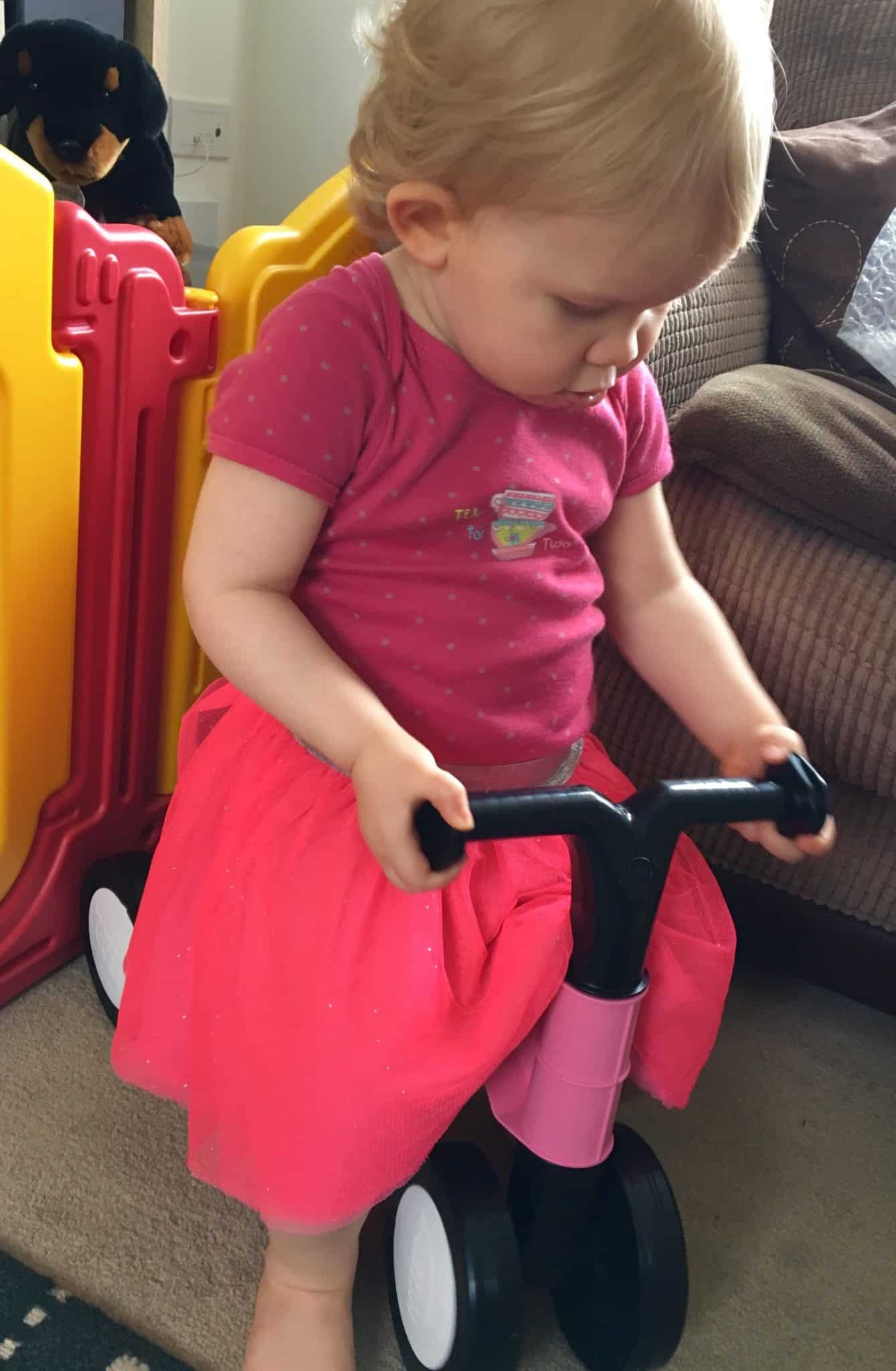 Toddlebike 2 in use