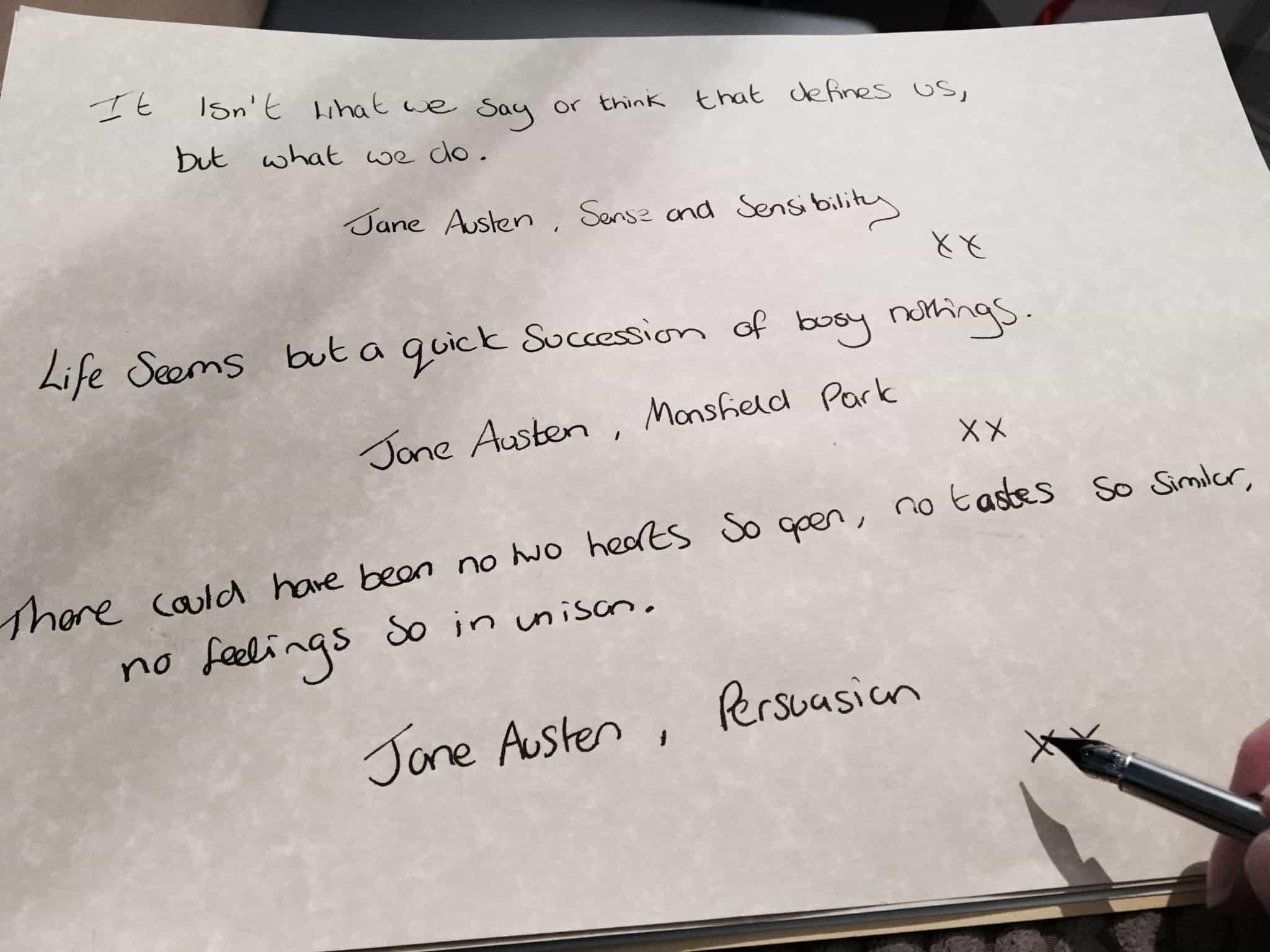 Favourite Jane Austen Quotes