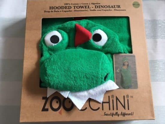 Dinosaur hooded towel