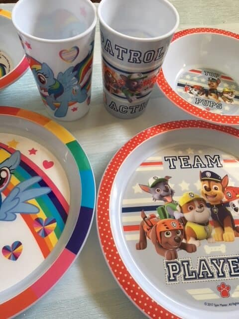 Paw Patrol and My Little Pony Dinner time sets.
