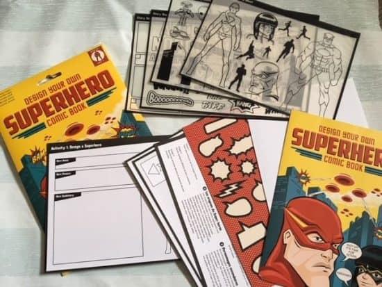 Superhero comic book.