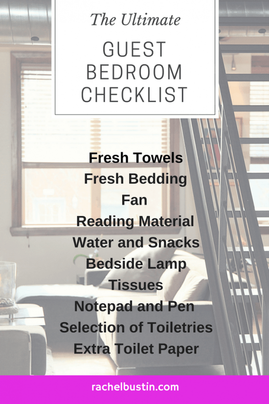 The Ultimate Guest Bedroom Checklist