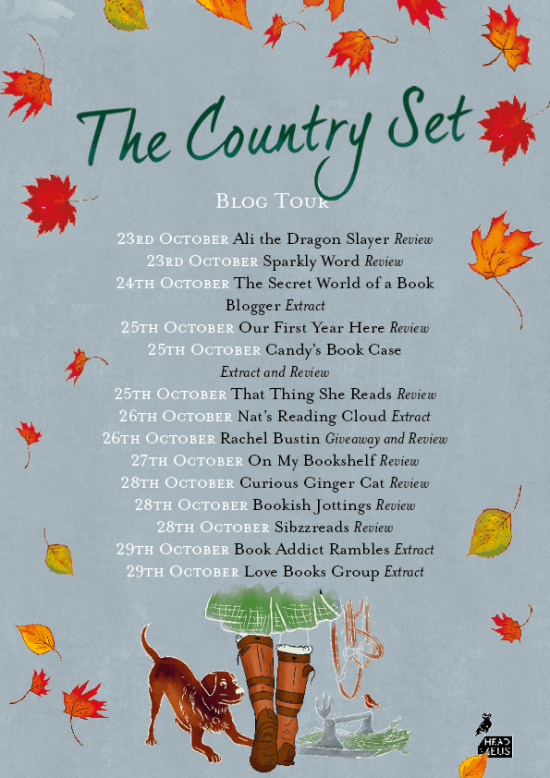 The country set blog tour banner