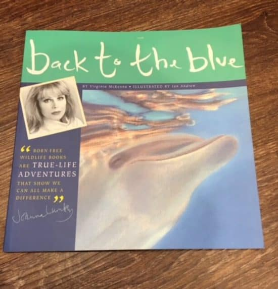Born Free childrens book- Back to the blue