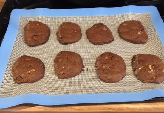 Cookies on the Vremi silicone baking mats